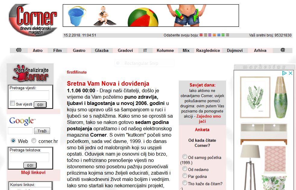 Corner.hr - online daily magazine